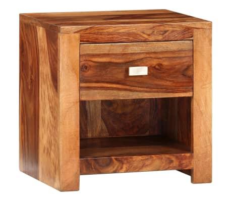 vidaXL Nightstand with 1 Drawer Solid Sheesham Wood[11/11]