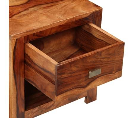 vidaXL Nightstand with 1 Drawer Solid Sheesham Wood[5/11]