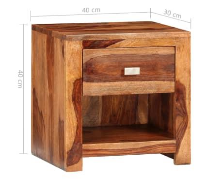 vidaXL Nightstand with 1 Drawer Solid Sheesham Wood[9/11]