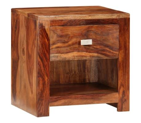 vidaXL Nightstand with 1 Drawer Solid Sheesham Wood[10/11]