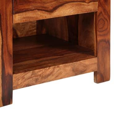 vidaXL Nightstand with 1 Drawer Solid Sheesham Wood[8/11]