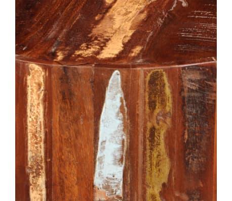 vidaXL Coffee Table Solid Reclaimed Wood Round[7/8]