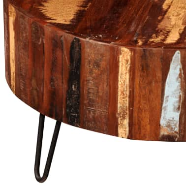 vidaXL Coffee Table Solid Reclaimed Wood Round[6/8]