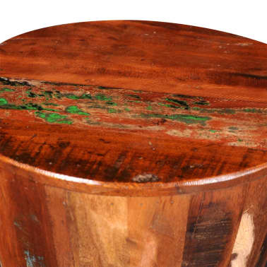 Reclaimed Solid Wood Round Stool[6/7]