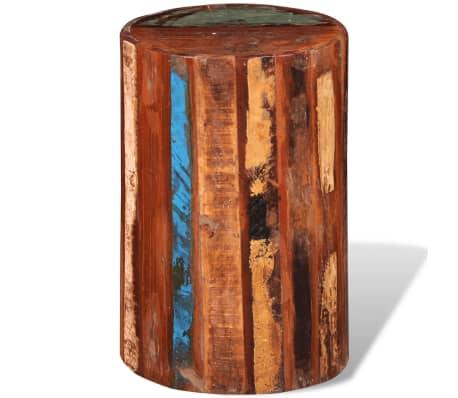 vidaXL Pall massivt återvunnet trä