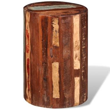 Vidaxl sgabelli da bar in legno massello di recupero for Sgabelli bar legno