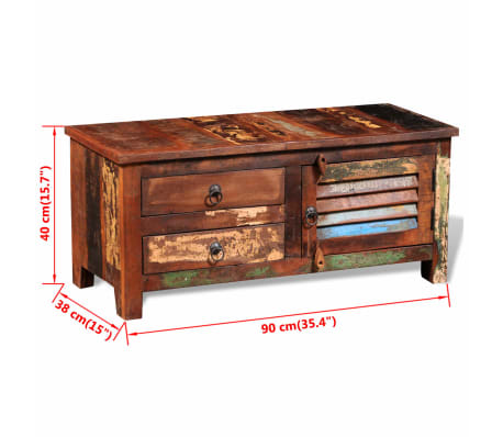 vidaXL Reclaimed TV Hi-Fi Cabinet Side Cabinet Solid Wood[11/11]