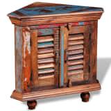 Solid Reclaimed Wood Corner Cabinet
