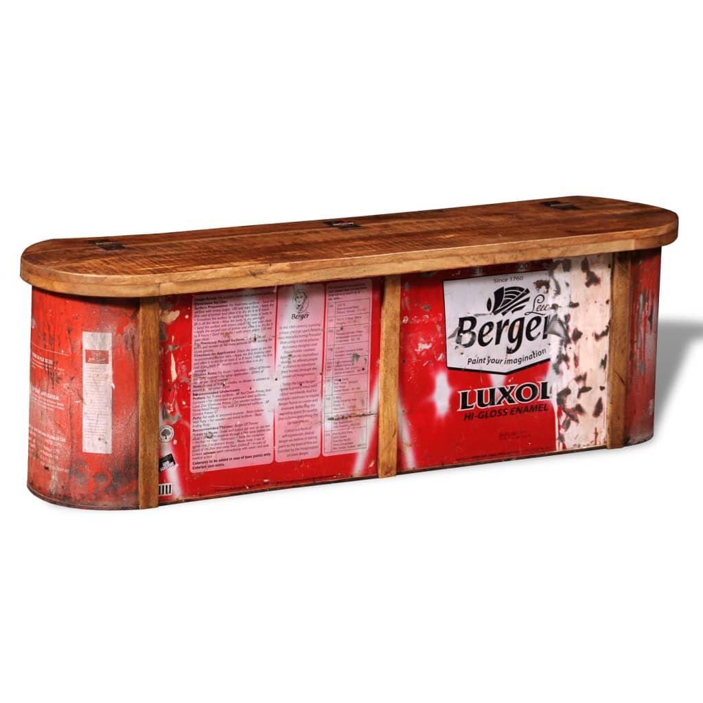 Komoda / uložná  lavička z recyklovaného masivního dřeva