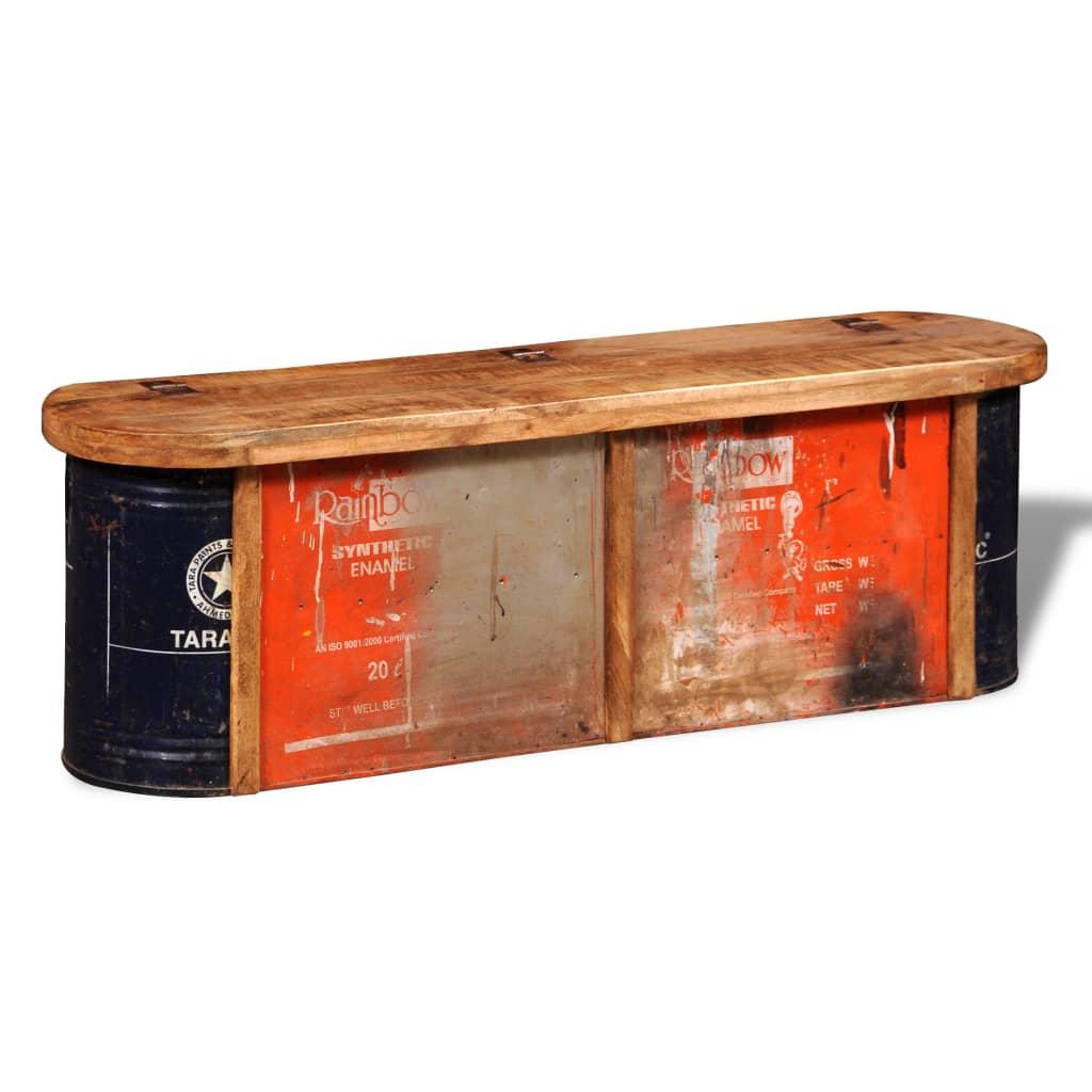 999241633 Truhe mit Sitzbank aus wiederverwendetem Holz