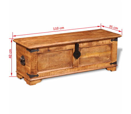 vidaXL Storage Chest Rough Mango Wood[10/10]