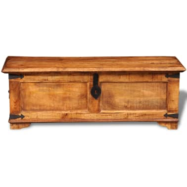 vidaXL Storage Chest Rough Mango Wood[7/10]