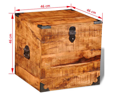 vidaXL Storage Chest Cubic Rough Mango Wood[11/11]