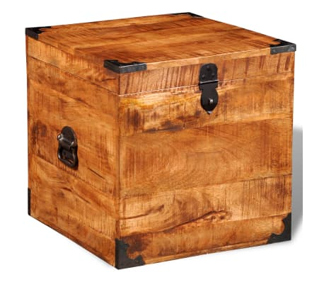 vidaXL Storage Chest Cubic Rough Mango Wood[5/11]