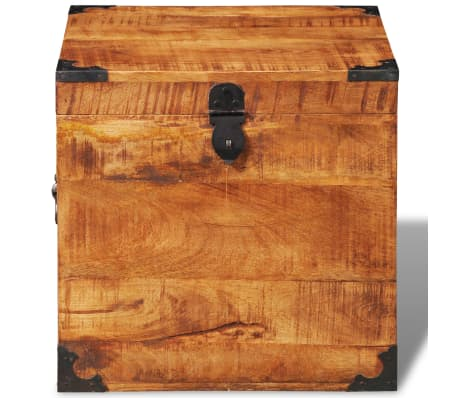 vidaXL Storage Chest Cubic Rough Mango Wood[6/11]