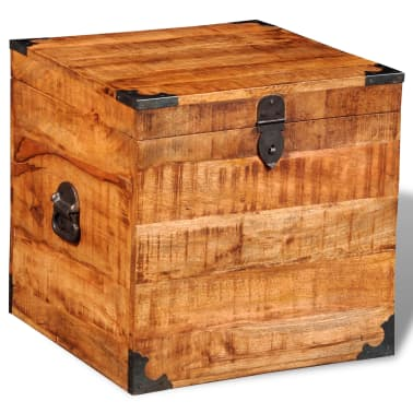 vidaXL Storage Chest Cubic Rough Mango Wood[2/11]
