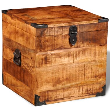 vidaXL Storage Chest Cubic Rough Mango Wood[4/11]