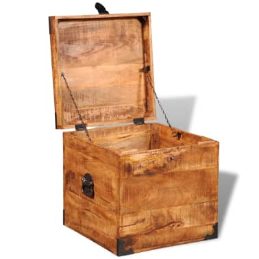 vidaXL Storage Chest Cubic Rough Mango Wood[7/11]