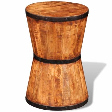 Rough Mango Wood Hourglass Stool[5/7]