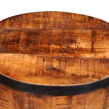 Rough Mango Wood Hourglass Stool[6/7]