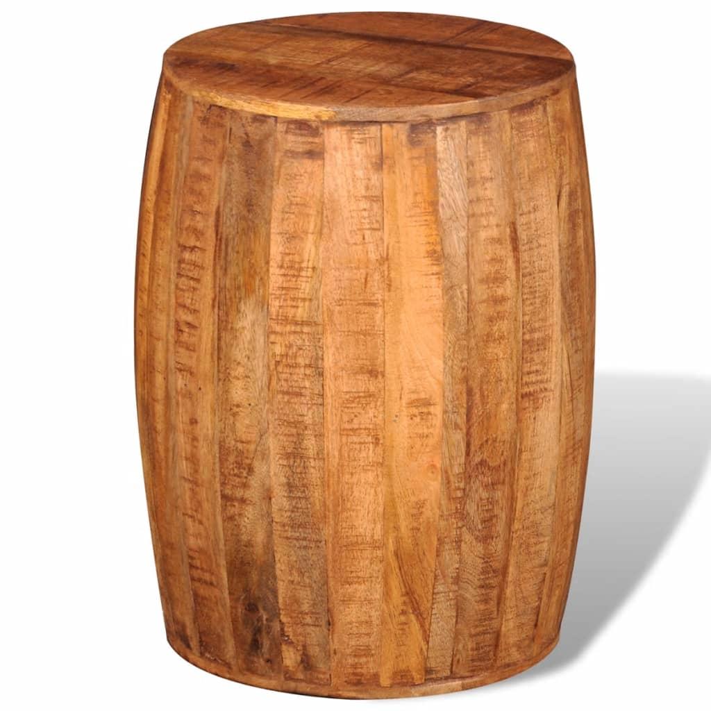 Stolička z hrubého mangovníkového dřeva ve tvaru bubnu