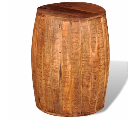 Rough Mango Wood Drum Stool[2/7]