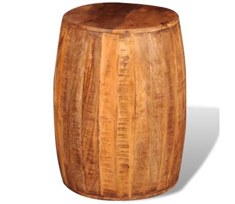 Rough Mango Wood Drum Stool[4/7]