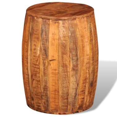 Rough Mango Wood Drum Stool[3/7]