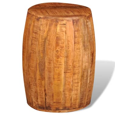 Rough Mango Wood Drum Stool[5/7]