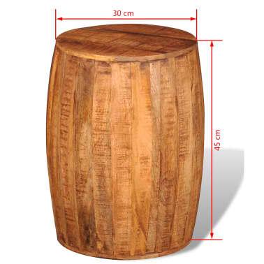 Rough Mango Wood Drum Stool[7/7]