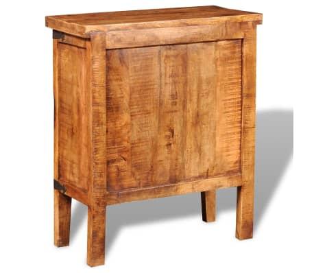 vidaXL Storage Cabinet with Glass Doors Rough Mango Wood[6/9]
