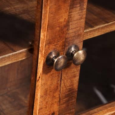 vidaXL Storage Cabinet with Glass Doors Rough Mango Wood[8/9]