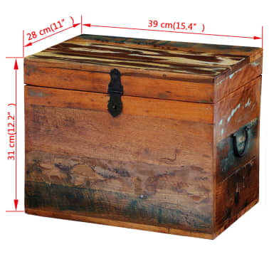 vidaXL Reclaimed Storage Box Solid Wood[7/7]