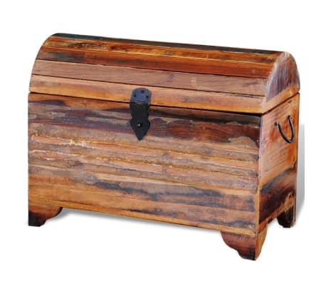 truhe aufbewahrungsbox holztruhe aus recyceltem holz g nstig kaufen. Black Bedroom Furniture Sets. Home Design Ideas