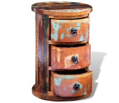 vidaXL Armario pequeño con 3 cajones madera maciza[4/11]