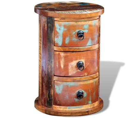 vidaXL Armario pequeño con 3 cajones madera maciza[8/11]