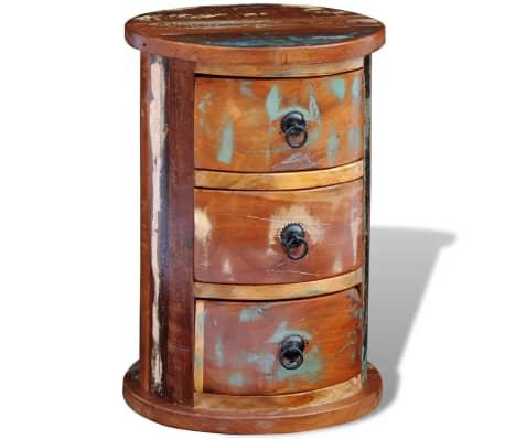 vidaXL Armario pequeño con 3 cajones madera maciza[10/11]
