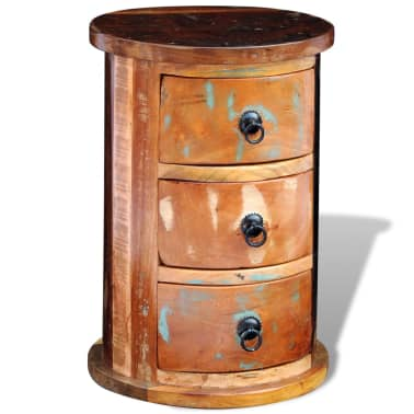 vidaXL Armario pequeño con 3 cajones madera maciza[11/11]