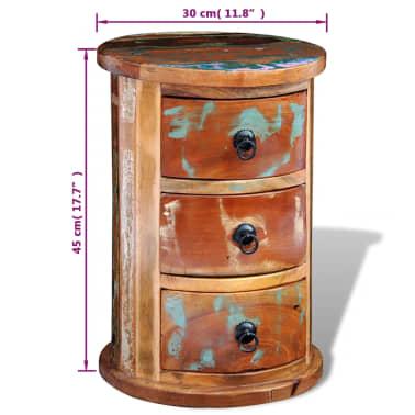 vidaXL Armario pequeño con 3 cajones madera maciza[7/11]