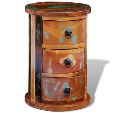 vidaXL Armario pequeño con 3 cajones madera maciza[9/11]