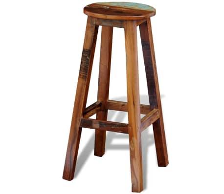 vidaXL Barska stolica od masivnog obnovljenog drva[3/8]