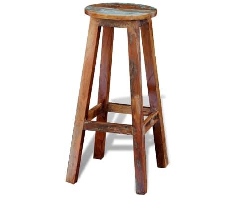 vidaXL Barska stolica od masivnog obnovljenog drva[4/8]