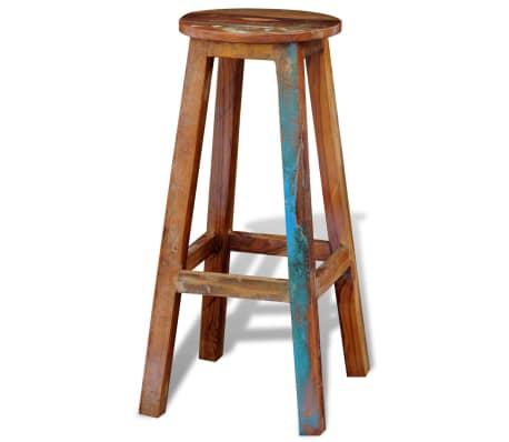 vidaXL Barska stolica od masivnog obnovljenog drva[5/8]
