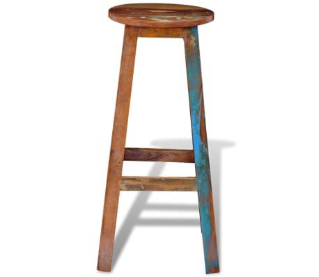 vidaXL Barska stolica od masivnog obnovljenog drva[6/8]