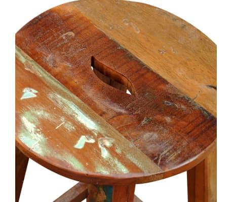 vidaXL Barska stolica od masivnog obnovljenog drva[7/8]