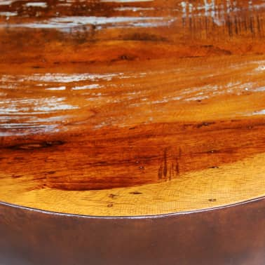 vidaXL Coffee Table Bowl-shaped with Steel Base Solid Reclaimed Wood[5/6]