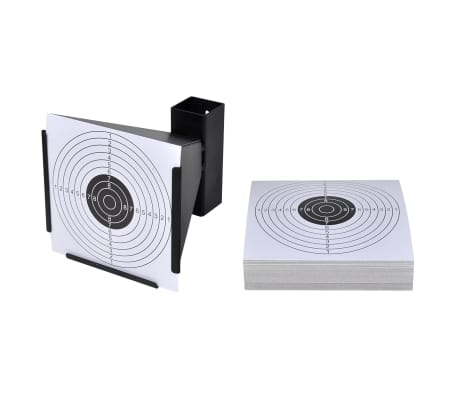 vidaXL Support de 14 cm avec 100 cibles papier[1/4]