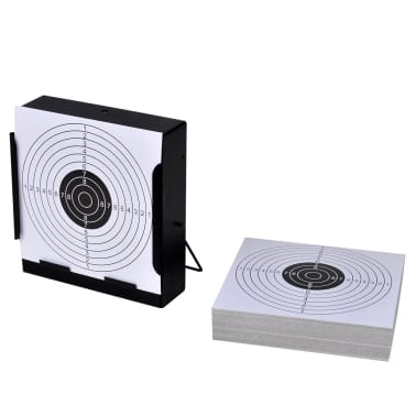 """5.5"""" Square Target Holder Pellet Trap + 100 Paper Targets[1/4]"""