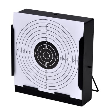 """5.5"""" Square Target Holder Pellet Trap + 100 Paper Targets[3/4]"""