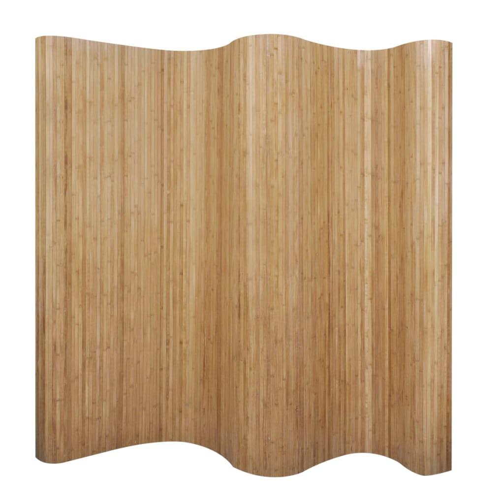 vidaXL Biombo/divisória de sala 250×195 cm bambu natural